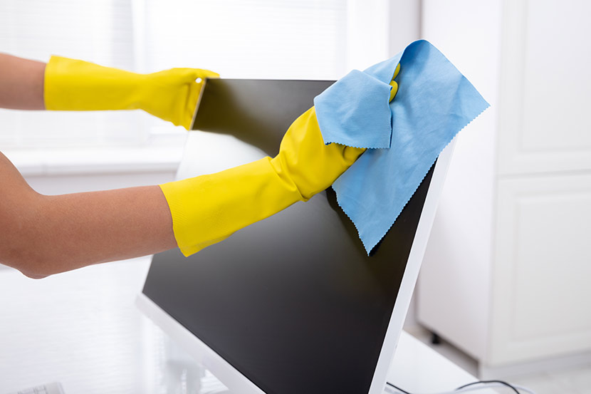 cleaning in Bangkok office